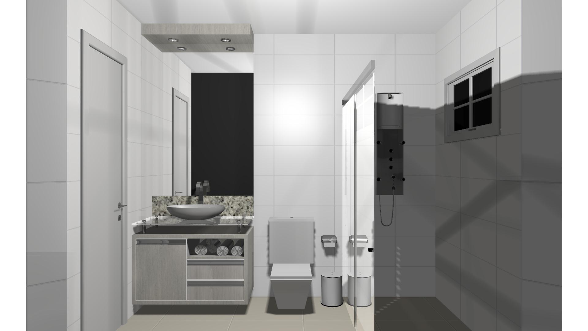 Projeto – Banheiro Sul Móveis São Miguel do Iguaçu PR  #6E695D 1920 1080