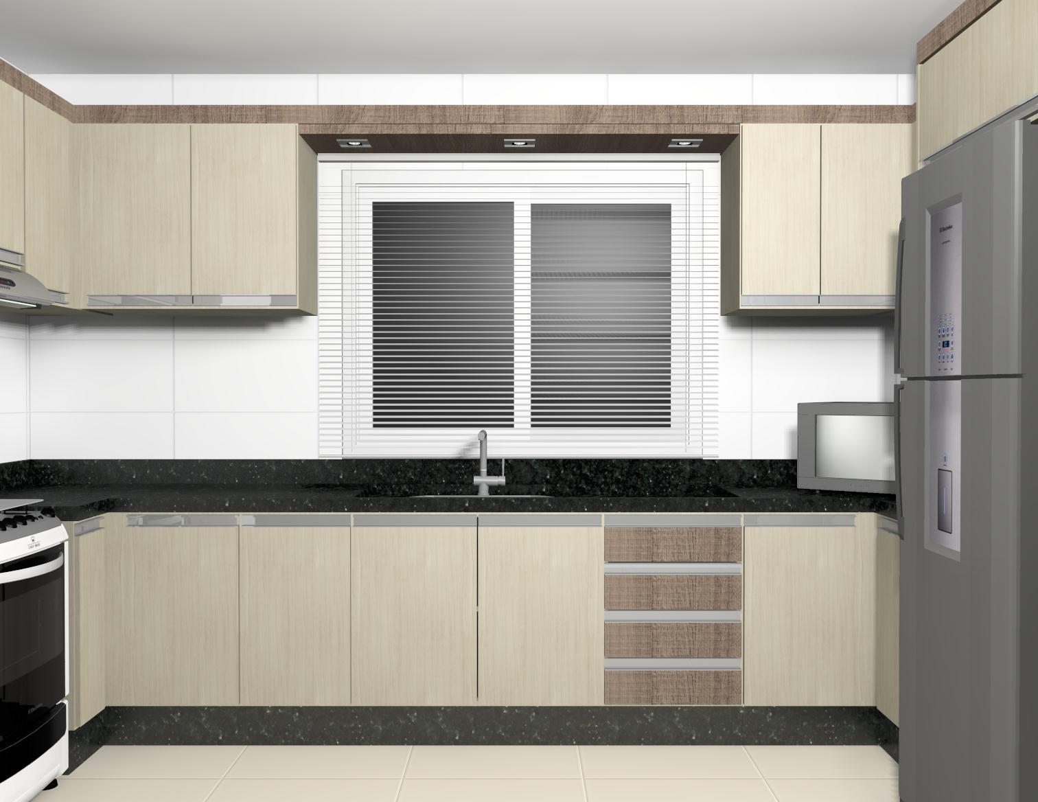 Projeto – Cozinha planejada (07/03/2013) Sul Móveis São Miguel  #786F53 1512 1168