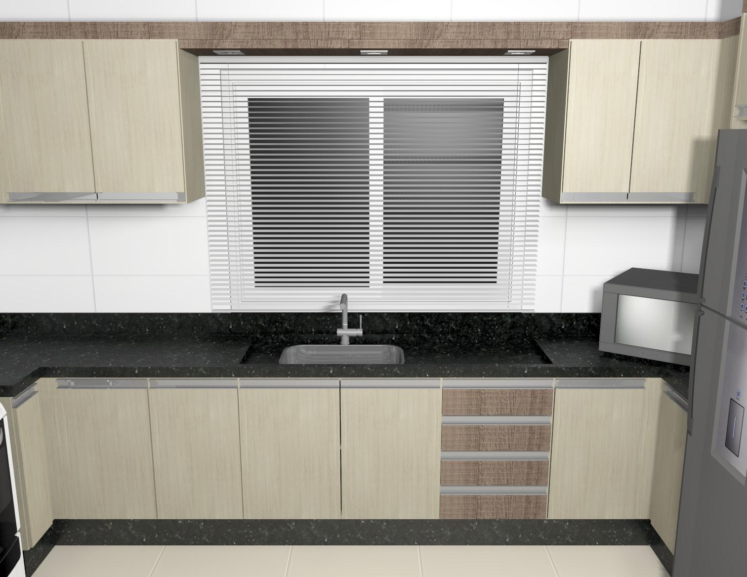 #776D54 Projeto – Cozinha planejada (07/03/2013) 1512x1168 px Projetos De Cozinhas Sob Medidas #747 imagens